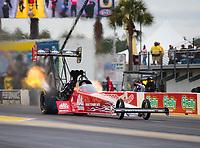 Mar 17, 2019; Gainesville, FL, USA; NHRA top fuel driver Doug Kalitta during the Gatornationals at Gainesville Raceway. Mandatory Credit: Mark J. Rebilas-USA TODAY Sports