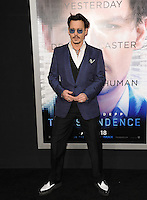 Johnny Depp at the Los Angeles premiere of his movie &quot;Transcendence&quot; at the Regency Village Theatre, Westwood.<br /> April 10, 2014  Los Angeles, CA<br /> Picture: Paul Smith / Featureflash