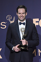 LOS ANGELES - SEP 22:  Bill Hader at the Emmy Awards 2019: PRESS ROOM at the Microsoft Theater on September 22, 2019 in Los Angeles, CA