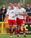 Joel Byrom of Stevenage is congratulated  by Mark Roberts after scoring their second goal. - Stevenage v Bury - npower League 1 - Lamex Stadium, Stevenage  - 5th May, 2012. © Kevin Coleman 2012