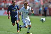 Santa Clara, CA - Sunday July 22, 2018: Tommy Thompson during a friendly match between the San Jose Earthquakes and Manchester United FC at Levi's Stadium.