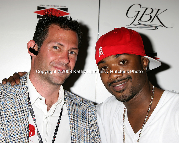 Gavin B. Keilly & Ray J Norwood at the BET Awards GBK Gifting Lounge outside the Shrine Auditorium in Los Angeles, CA on.June 23, 2008.©2008 Kathy Hutchins / Hutchins Photo .