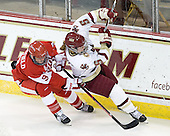 Jenn Wakefield (BU - 9), Alex Carpenter (BC - 5) - The visiting Boston University Terriers defeated the Boston College Eagles 4-1 on Wednesday, November 2, 2011, at Kelley Rink in Conte Forum in Chestnut Hill, Massachusetts.