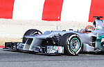 21.02.2012 Barcelona Spain. Formula One testind day1. Mercedes AMG F1 team with German driver Michael Schumacher