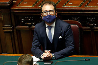 Minister of Justice Alfonso Bonafede at the Chamber of Deputies, during the final vote on the Justice Decree. Rome (Italy), June 25th 2020<br /> Foto Samantha Zucchi Insidefoto