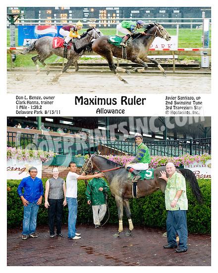 Maximus Ruler winning at Delaware Park on 8/13/11.
