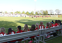 Boyds, MD - Saturday May 07, 2016: Young fans watch warm ups before a regular season National Women's Soccer League (NWSL) match at Maureen Hendricks Field, Maryland SoccerPlex. Washington Spirit tied the Portland Thorns 0-0.