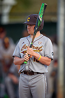 Central Michigan Chippewas pinch hitter Ryan Heeke (10) at bat during a game against the Boston College Eagles on March 8, 2016 at North Charlotte Regional Park in Port Charlotte, Florida.  Boston College defeated Central Michigan 9-3.  (Mike Janes/Four Seam Images)