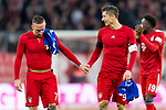 09.02.2019, Allianz Arena, Muenchen, GER, 1.FBL,  FC Bayern Muenchen vs. FC Schalke 04, DFL regulations prohibit any use of photographs as image sequences and/or quasi-video, im Bild Franck Ribery (FCB #7) mit Robert Lewandowski (FCB #9) <br /> <br />  Foto &copy; nordphoto / Straubmeier