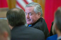 United States Representative Mark Meadows (Republican of North Carolina) is seen before United States President Donald J. Trump and Liu He, China's vice premier, sign a trade agreement between the United States and China in the East Room of the White House in Washington D.C., U.S., on Wednesday, January 15, 2020.  <br /> <br /> Credit: Stefani Reynolds / CNP/AdMedia