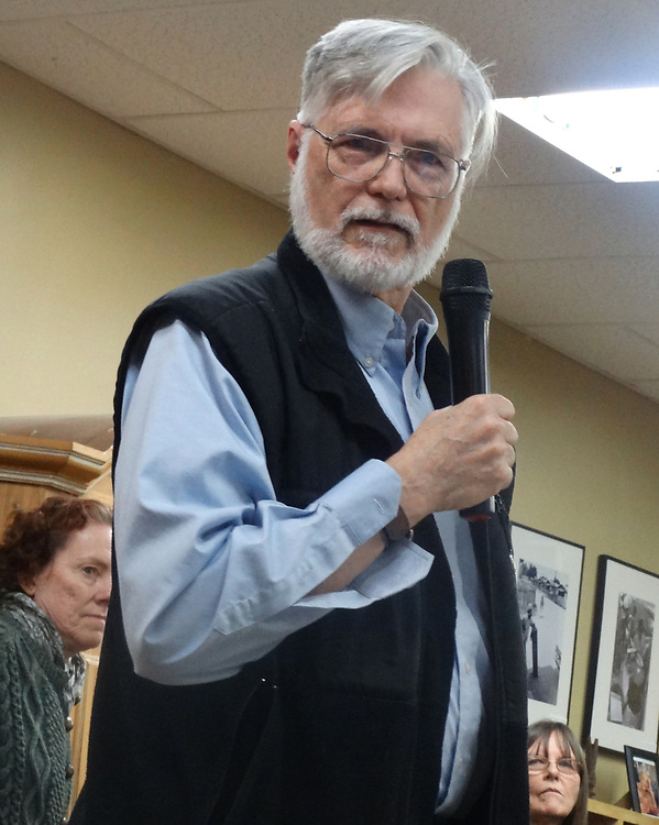 Jim Peppler speaking at the A.J. Williams-Myers African Roots Center, in Kingston, NY., Saturday, January 13, 2018. Photo by Jericho. Copyright/Jericho/2018.