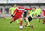 2017-11-05 / voetbal / seizoen 2017-2018 / VC Herentals - Hoeilaart / Nicholas Van Looy (l) (VC Herentals) probeert voorbij Jannes Nicodeme (l) (Hoeilaart) te komen