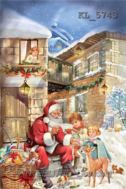 Interlitho, Patricia, CHRISTMAS SANTA, SNOWMAN, paintings, santa, reindeer child(KL5743,#X#) Weihnachtsmänner, Schneemänner, Weihnachen, Papá Noel, muñecos de nieve, Navidad, illustrations, pinturas