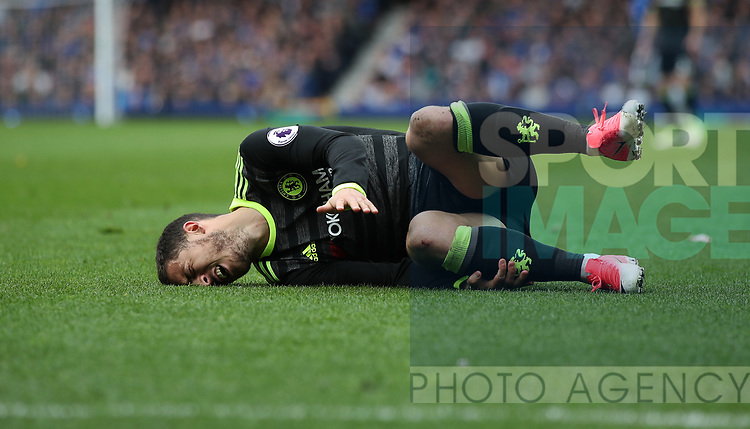 Eden Hazard of Chelsea during the English Premier League match at Goodison Park , Liverpool. Picture date: April 30th, 2017. Photo credit should read: Lynne Cameron/Sportimage