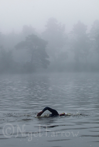 11 JUN 2011 - BRANSGORE, GBR - David Miles - Quintuple Enduroman event - Enduroman Ultra Triathlon Championships .(PHOTO (C) NIGEL FARROW)