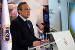 Real Madrid's president Florentino Perez during the renews of Cristiano Ronaldo's contract with Real Madrid until 2021 at Santiago Bernabeu Stadium in Madrid. November , 2016. (ALTERPHOTOS/Borja B.Hojas)