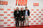 "Luis Tosar, Jose Sacristan and Mario Casas attends to the presentation of the spanish film ""Toro"" at Hotel Hesperia in Madrid, April 19,2016. (ALTERPHOTOS/Borja B.Hojas)"