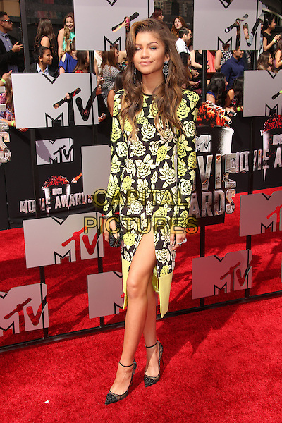 LOS ANGELES, CA - APRIL 13: Zendaya at the 2014 MTV Movie Awards at Nokia Theatre L.A. Live on April 13, 2014 in Los Angeles, California. <br /> CAP/MPI/JO<br /> &copy;Janice Ogata/MPI/Capital Pictures