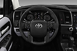 Car pictures of steering wheel view of a 2018 Toyota Sequoia Limited Auto 5 Door SUV