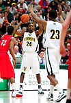 17 January 2010: University of Vermont Catamount guard Maurice Joseph, a Senior from Montreal, Quebec, in action against the Boston University Terriers at Patrick Gymnasium in Burlington, Vermont. The Catamounts, holding the lead for the entire game, defeated the Terriers 78-58. Mandatory Credit: Ed Wolfstein Photo