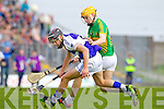 Fionan Horgan Saint Brendans in action against Conor O'Brien Lixnaw in the Senior County Hurling Final at Austin Stack Park Tralee on Sunday.