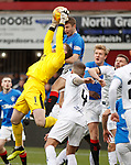 09.12.2018 Dundee v Rangers: Jack Hamilton saves from Jordan Rossiter