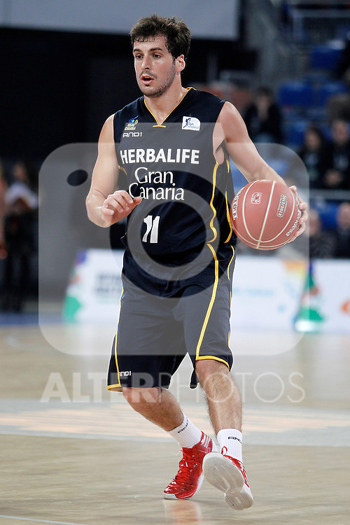 Herbalife Gran Canaria's Tomas Bellas during Spanish Basketball King's Cup semifinal match.February 07,2013. (ALTERPHOTOS/Acero)
