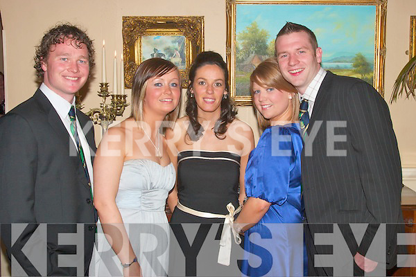 Enjoying the Listowel Rugby Club Social in The Arms Hotel on Saturday were Jonny Gornall, Listowel, Laura Gorman, Carlow, Marie Boland, Ventry, Sheena Stack, Castisland and John Gleeson, Lixnaw   Copyright Kerry's Eye 2008