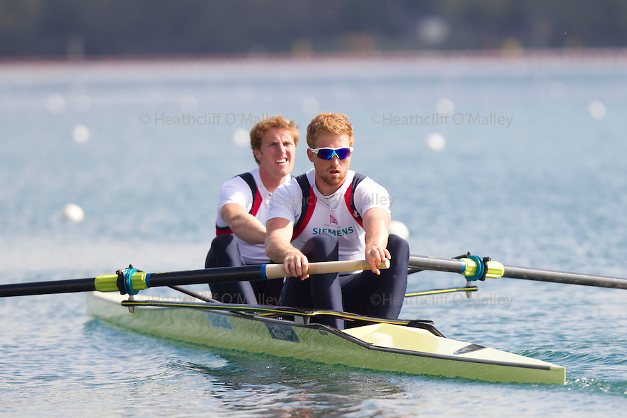 Mcc0038874 . Daily Telegraph..DT Sport..Men's Pair , George Nash and Will Satch.The announcement of the GB Rowing Crews for the first World Cup.. .Reading 4 April 2012