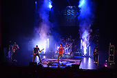 FORT LAUDERDALE FL - SEPTEMBER 27: Donnie Deville, Maddox Messer, Dereak Messer, Kenny Youngar and Javier Contreras of Messer perform at The Broward Center on September 27, 2019 in Fort Lauderdale, Florida. : Credit Larry Marano © 2019