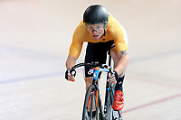 Luke Mudgway of East Coast North Island leads out front in the Elite Men Omnium 1, Scratch race 10km at the Age Group Track National Championships, Avantidrome, Home of Cycling, Cambridge, New Zealand, Saturday, March 18, 2017. Mandatory Credit: © Dianne Manson/CyclingNZ  **NO ARCHIVING**