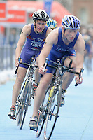 31 AUG 2007 - HAMBURG, GER - Ritchie Nicholls (GBR) - Under 23 Mens World Triathlon Championships. (PHOTO (C) NIGEL FARROW)