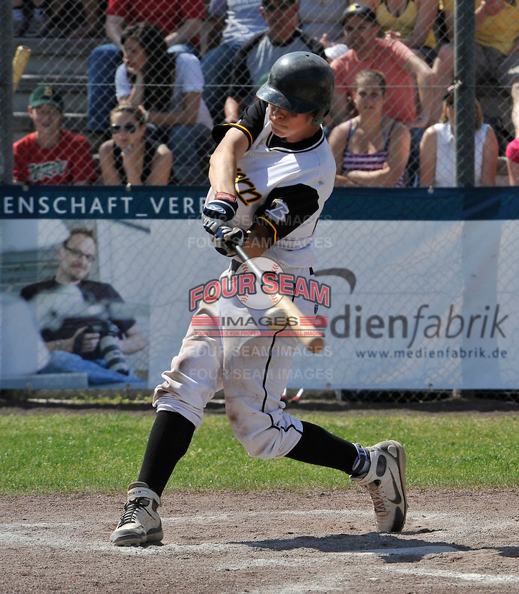 May 12, 2008:  Minnesota Twins International Signing Max Kepler-Rozycki in action while playing amateur baseball in Germany.  Kepler signed to a $800,000 bonus with the Twins, which is a record for an amateur outside the U.S. and Latin America.  Photo By Gregor Eisenhuth/Four Seam Images