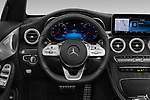 Car pictures of steering wheel view of a 2019 Mercedes Benz C-Class AMG-Line 2 Door Convertible Steering Wheel