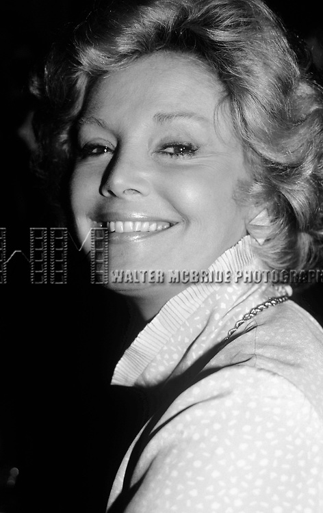 Barbara Sinatra on October 1,1982 in New York City.