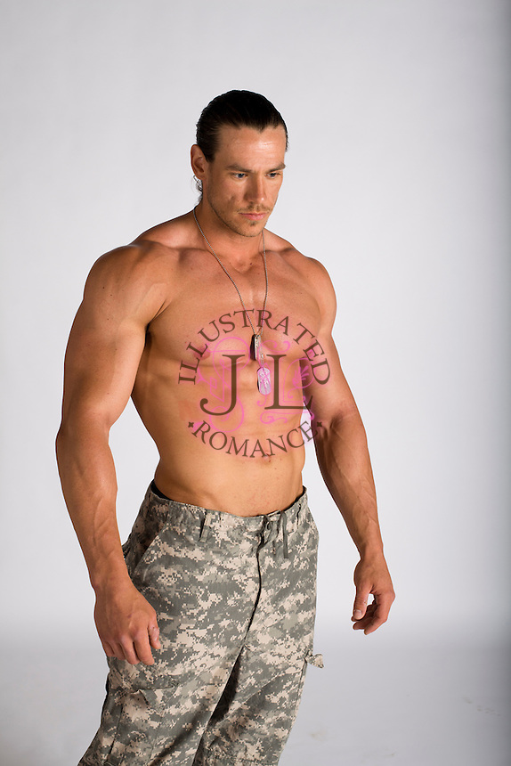 bare chest military suspense romance novel cover photograph
