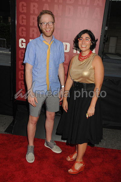 "10 June 2015 - Los Angeles, California - Jeremy Redleaf, Negin Farsad. LA Film Festival 2015 Opening Night Premiere of ""Grandma"" held at Regal Cinemas LA Live. Photo Credit: Byron Purvis/AdMedia"