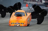 Feb. 11, 2012; Pomona, CA, USA; NHRA top alcohol funny car driver Tony Bartone during the Winternationals at Auto Club Raceway at Pomona.Mandatory Credit: Mark J. Rebilas-