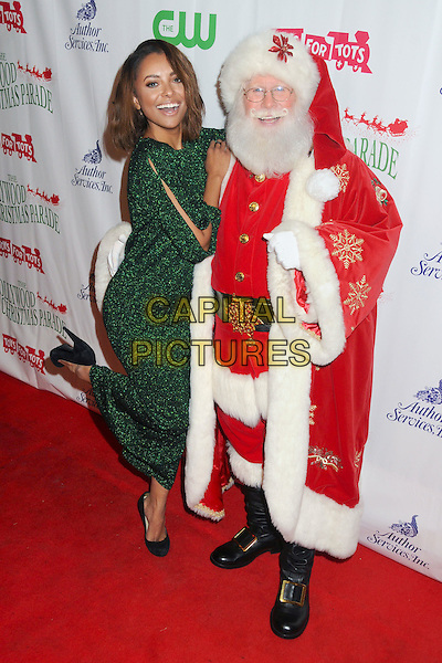 29 November 2015 - Hollywood, California - Kat Graham, Santa Claus. 84th Annual Hollywood Christmas Parade held on Hollywood Blvd. <br /> CAP/ADM/BP<br /> &copy;BP/ADM/Capital Pictures