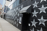 7th St Entry and Depot Tavern on side of First Avenue Nightclub with wall of musicians stars. Minneapolis Minnesota MN USA