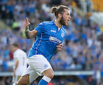 St Johnstone v FC Luzern...24.07.14  Europa League 2nd Round Qualifier<br /> Stevie May celebrates his goal<br /> Picture by Graeme Hart.<br /> Copyright Perthshire Picture Agency<br /> Tel: 01738 623350  Mobile: 07990 594431