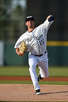 Lakeland Flying Tigers pitcher Kevin Ziomek (15) delivers a pitch during a game against the Tampa Yankees on April 9, 2015 at Joker Marchant Stadium in Lakeland, Florida.  Tampa defeated Lakeland 2-0.  (Mike Janes/Four Seam Images)