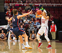 STANFORD, CA - March 17, 2018: Alexa Romano at Maples Pavilion. The Stanford Cardinal defeated the Gonzaga Bulldogs 82-68 to advance to the second round of the NCAA tournament.