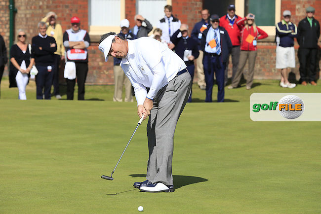Mike McCoy (USA) during the sunday morning foursomes for the Walker Cup, Royal Lytham St Annes, Lytham St Annes, Lancashire, England. 13/09/2015<br /> Picture Golffile | Fran Caffrey<br /> <br /> <br /> All photo usage must carry mandatory copyright credit (&copy; Golffile | Fran Caffrey)