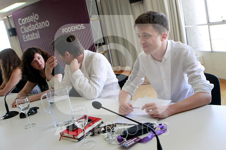 Inigo Errejon during the Consejo Ciudadano Estatal - State Citizen Council of Podemos. (ALTERPHOTOS/Acero)