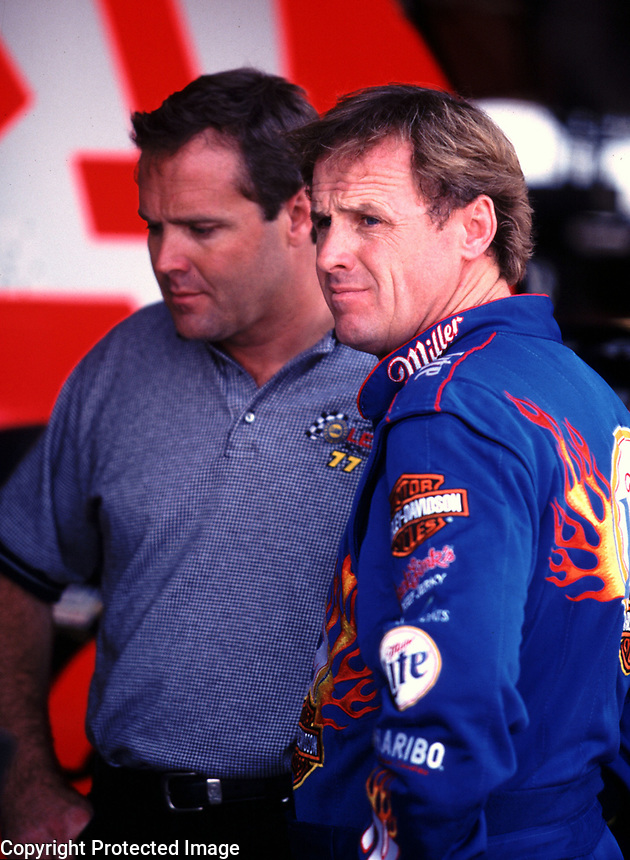 Mike Wallace (left) and Rusty Wallace, Richmond, VA, Chevy Monte Carlo 400, September 2000. ( photo by Brian Cleary)