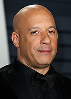 BEVERLY HILLS, CA - FEBRUARY 24: Vin Diesel at the 2019 Vanity Fair Oscar Party at the Wallis Annenberg Center for the Performing Arts on February 24, 2019 in Beverly Hills, California. (Photo by Xavier Collin/PictureGroup)