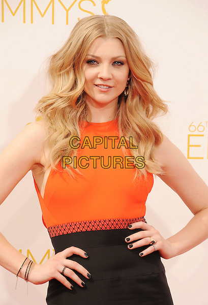LOS ANGELES, CA- AUGUST 25: Actress Natalie Dormer  arrives at the 66th Annual Primetime Emmy Awards at Nokia Theatre L.A. Live on August 25, 2014 in Los Angeles, California.<br /> CAP/ROT/TM<br /> &copy;Tony Michaels/Roth Stock/Capital Pictures
