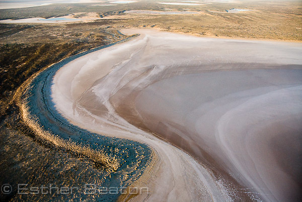 Water filling Belt Bay, lowest point of Australia, below sea level. North Lake Eyre. Lake Eyre National Park. South Australia