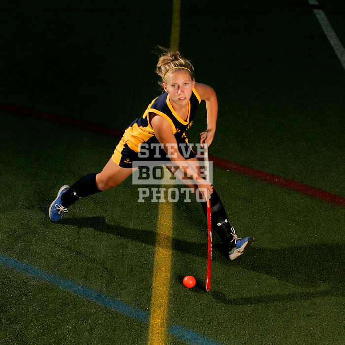 Wissahickon High School field hockey player Katie O'Donnell posed for portraits on September 12, 2006.  O'Donnell is also a member of the US National Team.